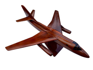 B66 Destroyer Mahogany Wood Desktop Aircraft Model
