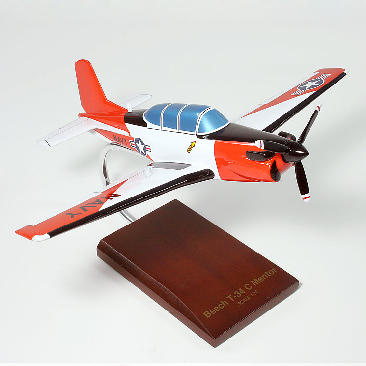 Beechcraft T-34C Mentor USN Painted Aviation Model Custom Made for you