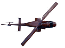 Load image into Gallery viewer, Bell 222 Mahogany Wood Desktop Helicopter Model