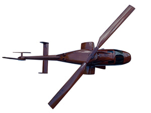 Bell 222 Mahogany Wood Desktop Helicopter Model