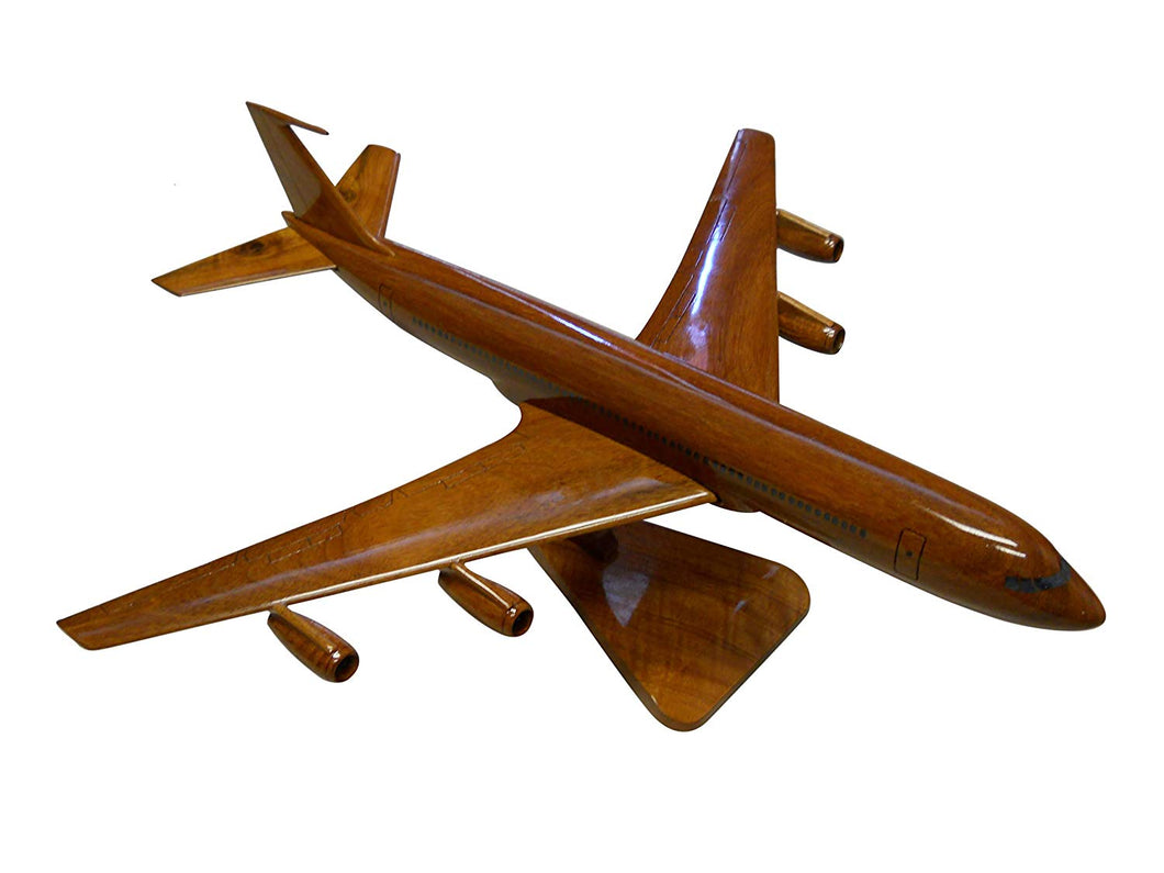 Boeing 707 Mahogany Wood Desktop Airplane Model
