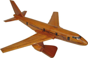 Boeing 767 Mahogany Wood Desktop Airplane Model