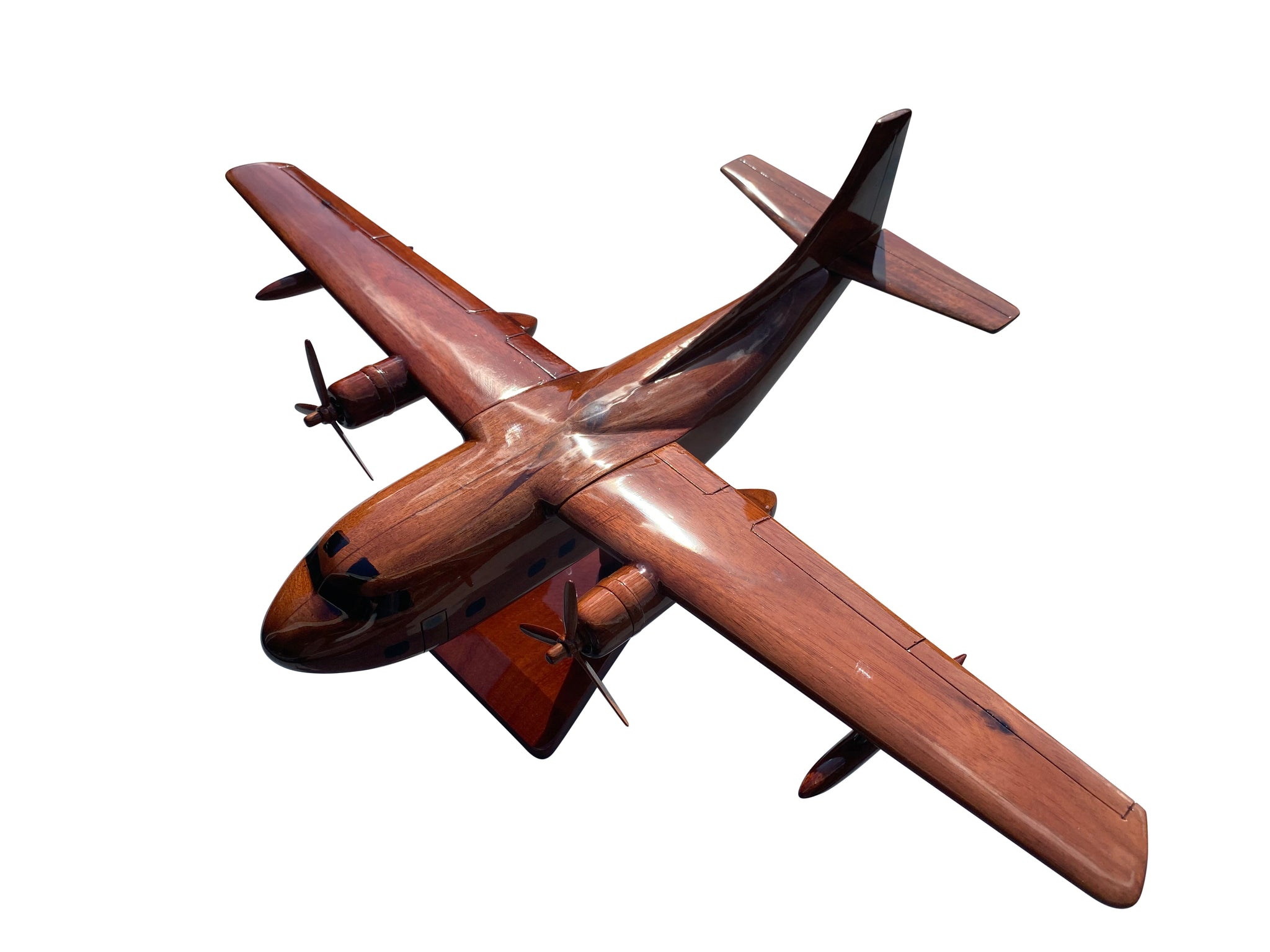 A-3 Skywarrior Mahogany Wood Desktop Airplane Model