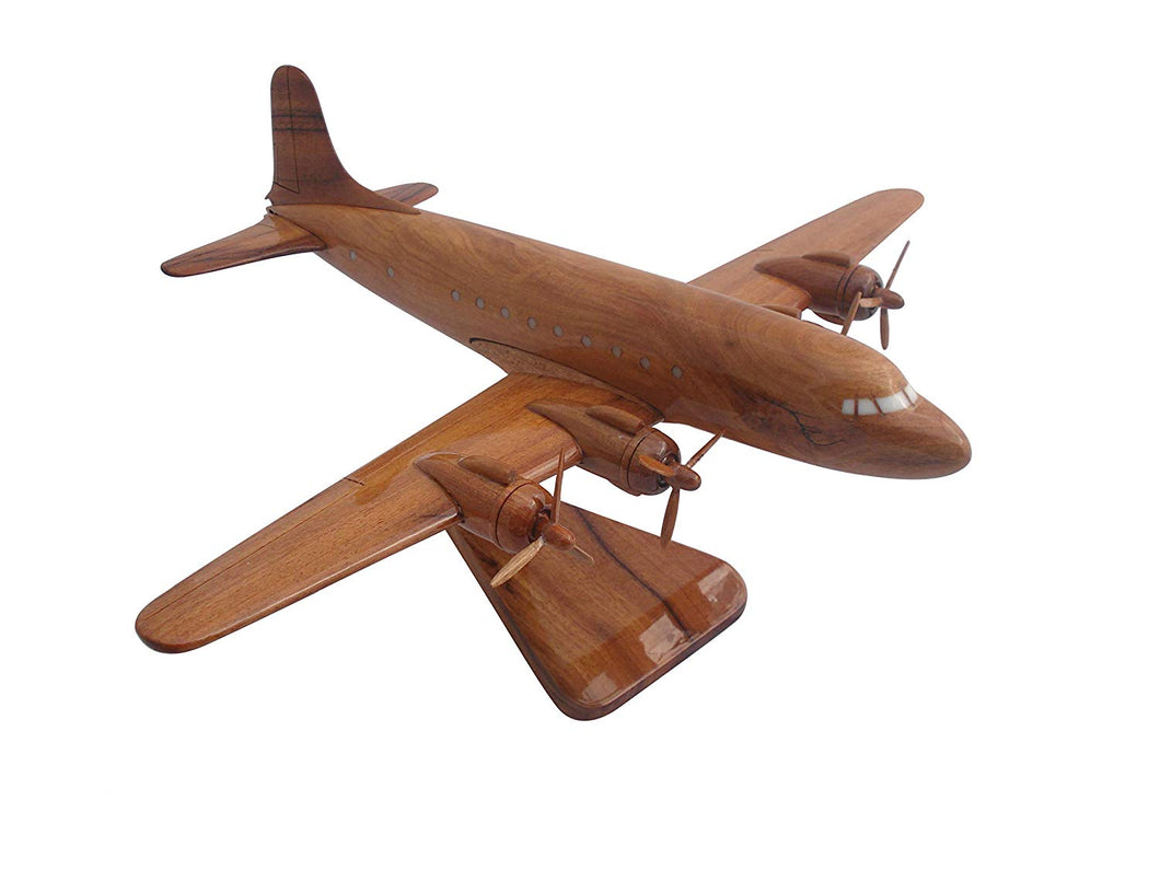 C59C Mahogany Wood Desktop Airplane Model