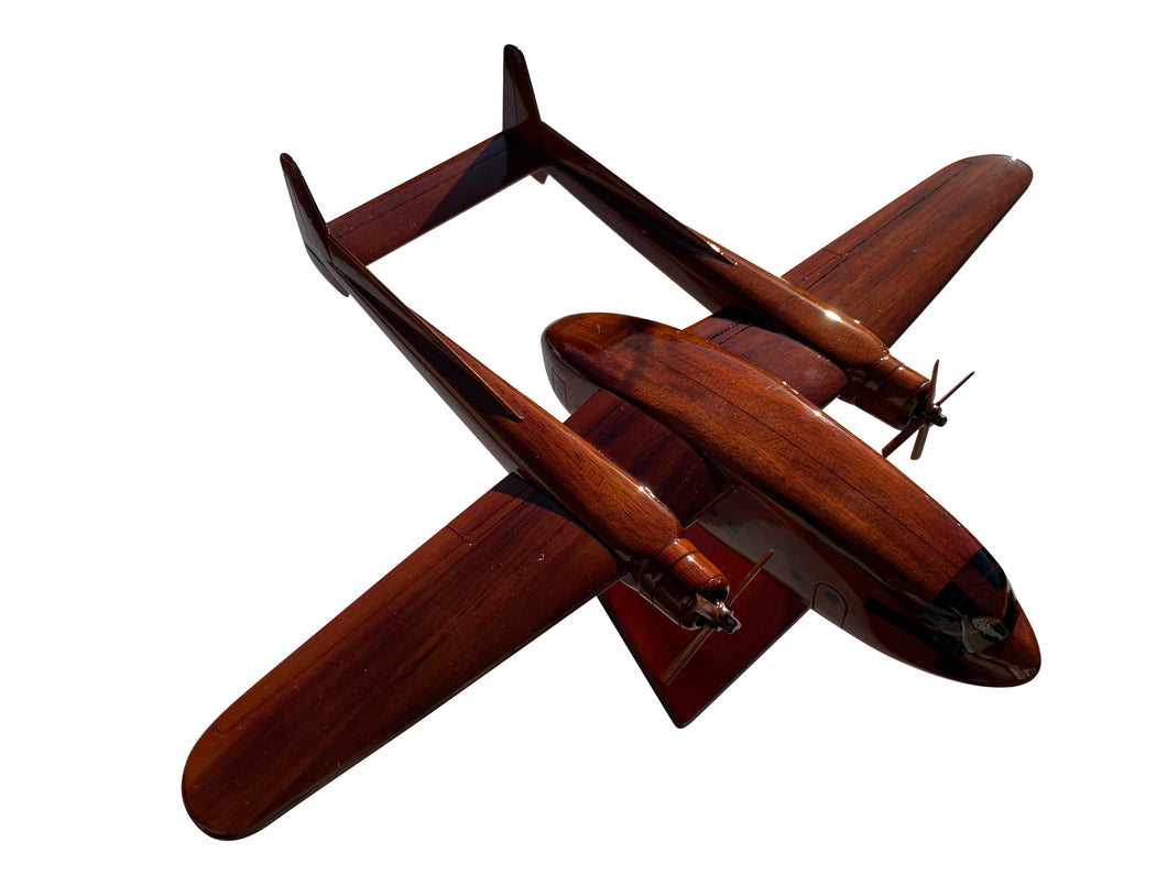 The C119 Flying boxcar Mahogany Wood Desktop Airplane Model