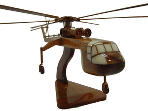 CH54 Tarhe Mahogany Wood Desktop Helicopter Model