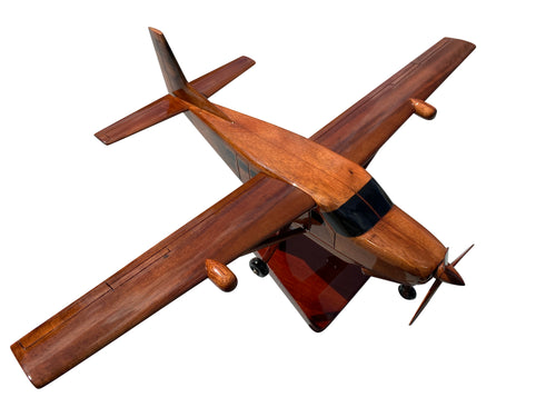 Cessna Caravan Mahogany Wood Desktop Aircraft Model