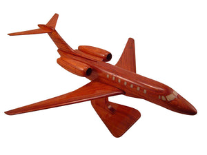 Cessna Citation 10 Mahogany Wood Desktop Airplane Model