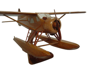 DHC2 on floats Mahogany Wood Desktop Airplane Model