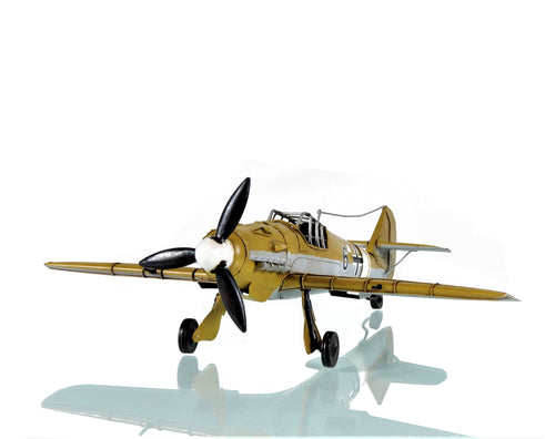 1935 Messerschmitt BF 109 Fighter Mahogany Wood Desktop Airplane Model