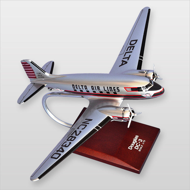 Douglas DC-3 Delta Painted Aviation Model Custom Made for you
