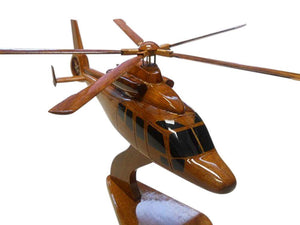 EC155 Mahogany Wood Desktop Helicopter Model