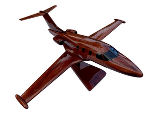 Eclipse 500 Mahogany Wood Desktop Airplane Model