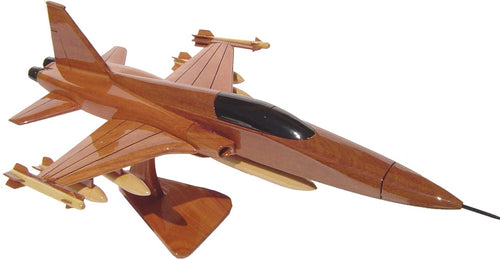 F5 Freedom Fighter Mahogany Wood Desktop Airplane Model