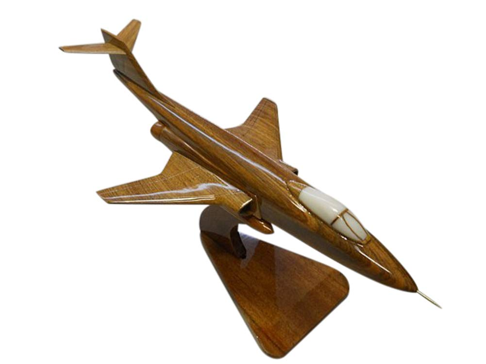 F101C VooDoo Mahogany Wood Desktop Airplane Model