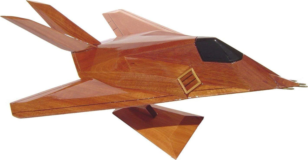 F117 Nighthawk Mahogany Wood Desktop Airplane Model