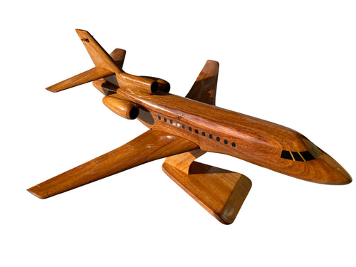 Dassault Falcon 900 Mahogany Wood Desktop Airplane Model