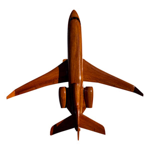 Falcon 900 EX (with winglets) Mahogany Wood Desktop Model