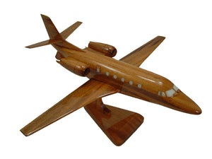 Falcon 2000 Mahogany Wood Desktop Airplane Model