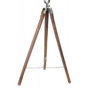 Floor Lamp stand wooden tripod light base timber spotlight.
