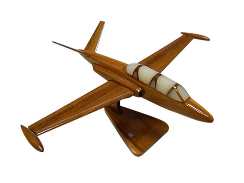 Fouga Magister Mahogany Wood Desktop Airplane Model