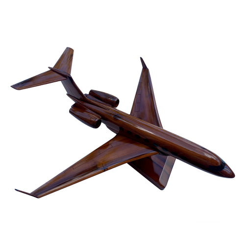 Gulfstream 650 Mahogany Wood Desktop Airplane Model