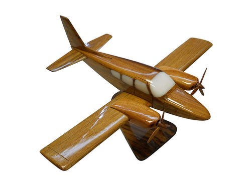 GA7 Cougar Gulfstream Mahogany Wood Desktop Airplane Model