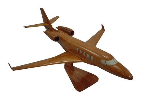 Gulfstream 150 Mahogany Wood Desktop Airplane Model