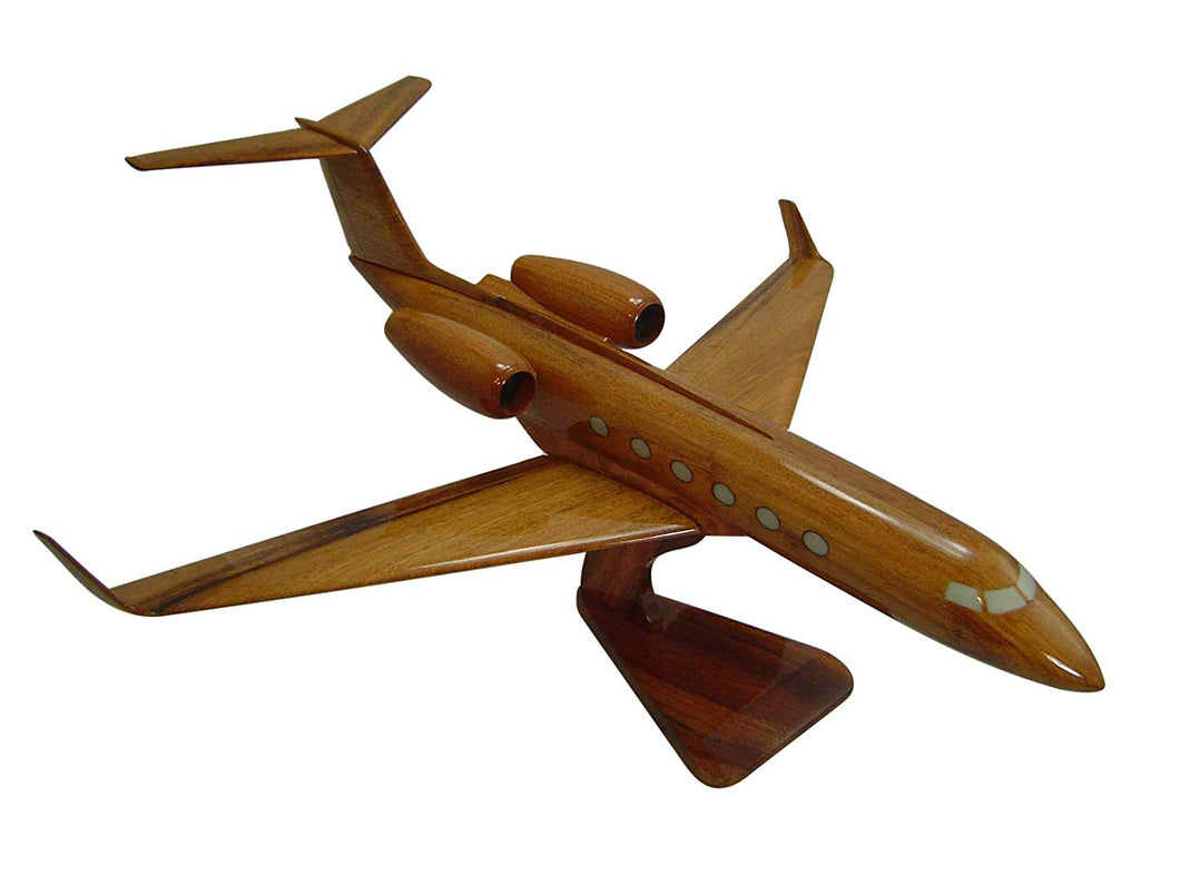 Gulfstream III Mahogany Wood Desktop Airplane Model