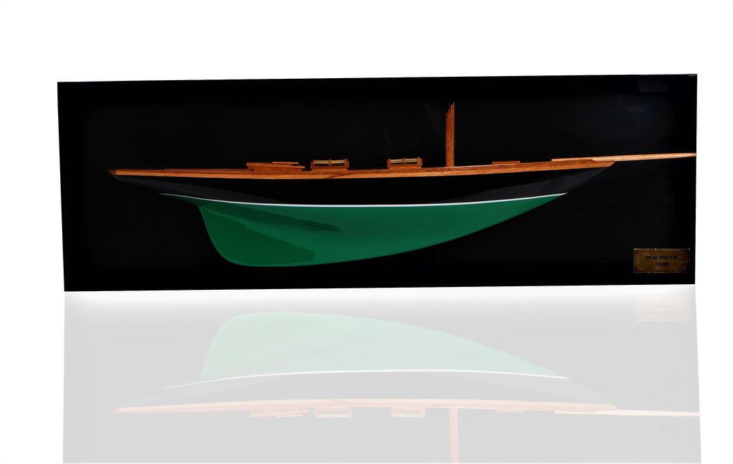 Pen Duick Half-Hull Scaled Model Boat Yacht Handmade