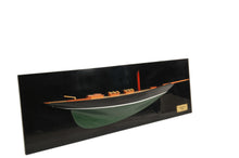 Load image into Gallery viewer, Pen Duick Half-Hull Scaled Model Boat Yacht Handmade