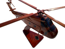 Load image into Gallery viewer, H34 Sikorsky Mahogany Wood Desktop Airplane Model