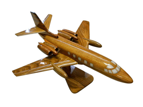 Lockheed Jetstar Mahogany Wood Desktop Airplane Model