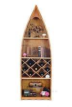 Load image into Gallery viewer, Wooden Canoe Wine Shelf