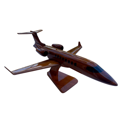 Lear 45  Mahogany Wood Desktop Airplane Model