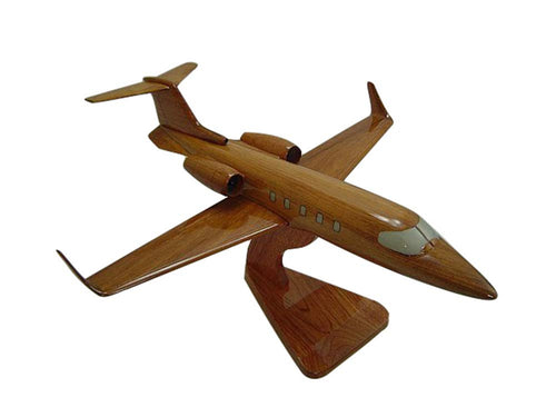 Lear31  Mahogany Wood Desktop Airplane Model