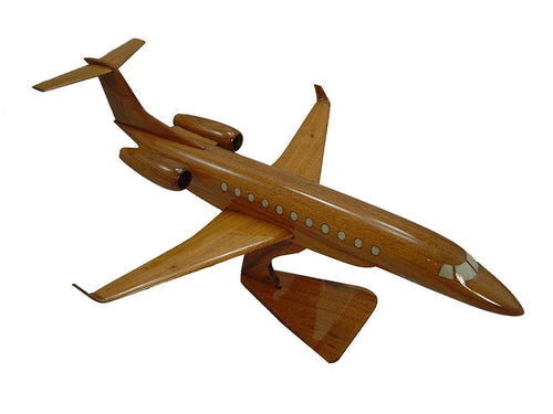 Legacy 600 Mahogany Wood Desktop Airplane Model