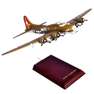 B-17G Thunderbird Mahogany Wood Desktop Airplane Model