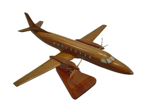 Metroliner Mahogany Wood Desktop Airplane Model