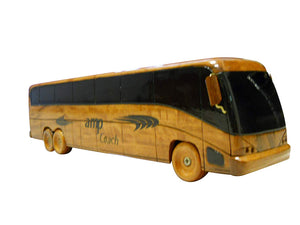 Motorcoach Mahogany Wood Desktop Model