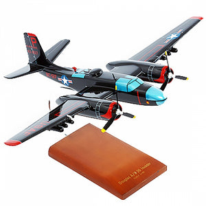 B-26C Invader Mahogany Wood Desktop Airplane Model