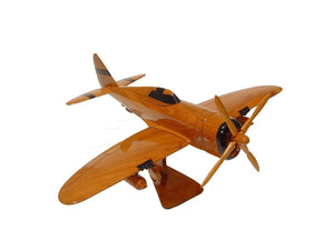 P47 Thunderbolt Mahogany Wood Desktop Airplane Model
