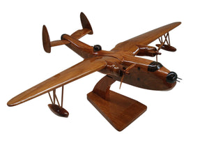 PBM Mariner Mahogany Wood Desktop Airplane Model