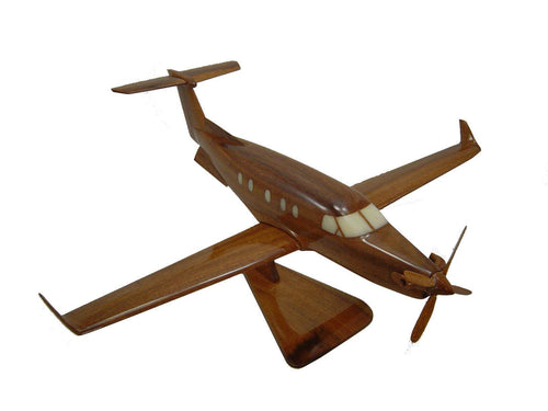 PC12 Pilatus Mahogany wood Airplane model