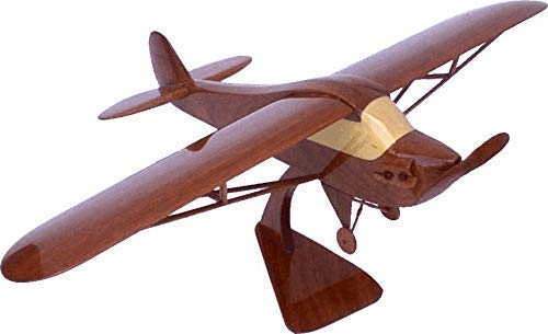 Piper Cub J3 Mahogany Wood Desktop Airplane Model