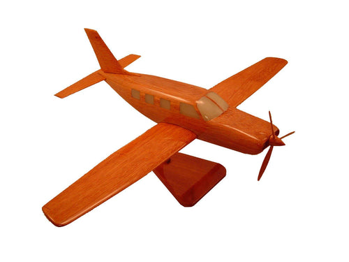 Piper Malibu Mirage Mahogany wood Airplane model