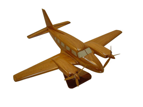 Piper Navajo Mahogany wood Airplane model
