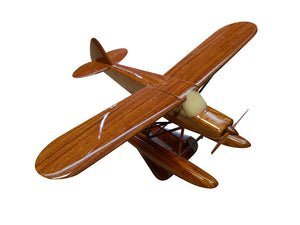 Piper PA on floats Mahogany Wood Desktop Airplane Model