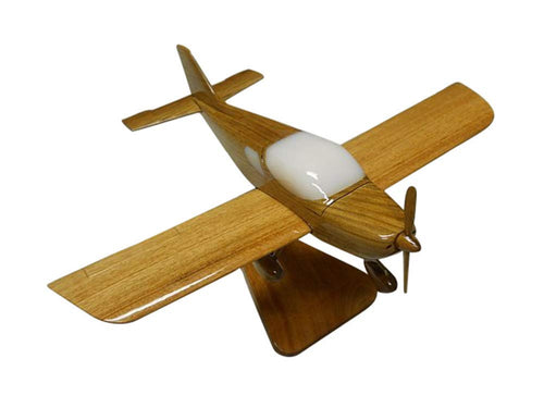 Piper Sport Mahogany Wood Desktop Airplane Model