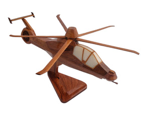 RAH66 Comanche Mahogany Wood Desktop Helicopter Model